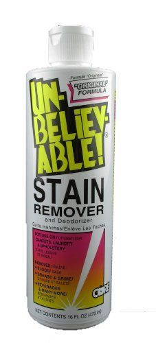 Unbelievable! SR-100 16 Oz. Stain Remover (Case of 12) by Core Products Company. $63.51. Lifts stains from carpet and upholstery on contact with no soapy residue. Contains no solvents or hazardous ingredients.