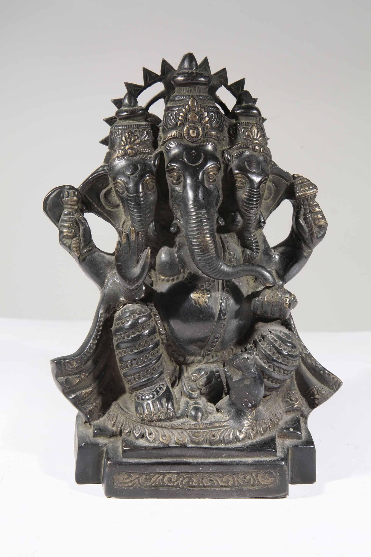 Statue ganesh bronze d 39 inde 18 galerie art africain masques et statue - Statue decoration interieur ...