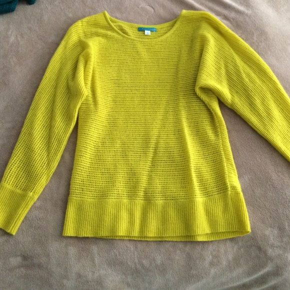 Cashmere sweater Gently worn cashmere dolman sleeve sweater in a beautiful mustard yellow color. 100% cashmere. Pim + Larkin. Super soft and light sweater. Great for a layering look, wear over a camisole or tank top. No trades. Sweaters Crew & Scoop Necks