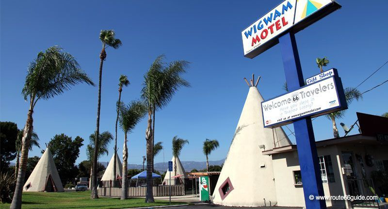 The Wigwam Motel In Rialto Ca Uniquely Host Their Guests Inside Hard Fabric Tees
