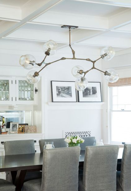 Funky Chandelier By Lindsey Adelman Craftsman Dining Room By
