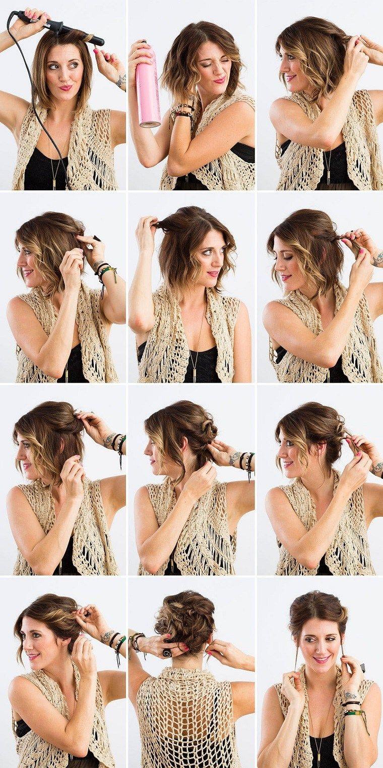 Peinados Faciles Paso A Paso 8 Tutoriales Inspiradores Nuevo Decoracion Peinados Cabello Corto Peinados Poco Cabello Peinados Para Cabello Rizado