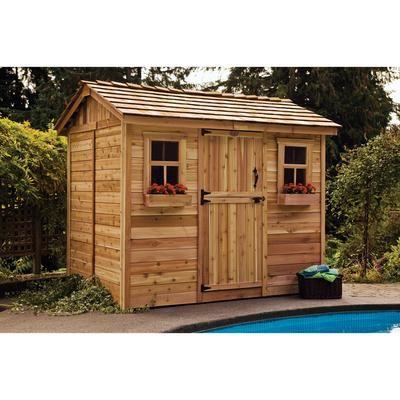 cedar garden shed. Outdoor Living Today - 9 Ft. X 6 Cabana Garden Shed CB96 Cedar 2