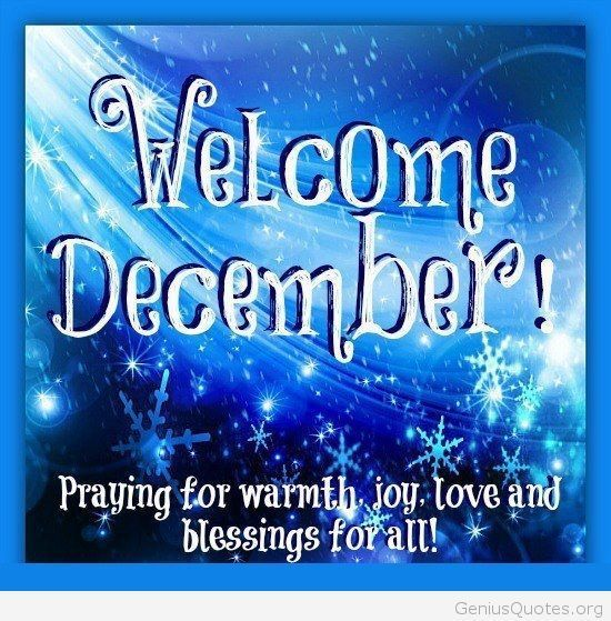 Charmant Welcome December Quote Card