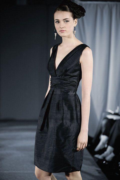 V-neck  dress with empire waist