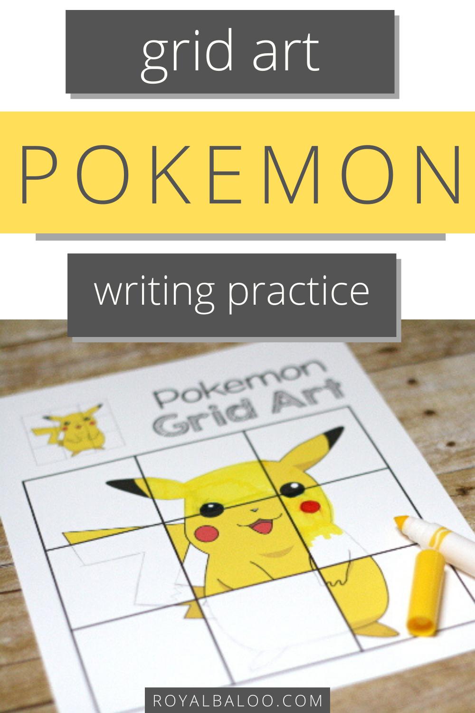 Writing Practice With Pokemon Grid Art Kindergarten Writing Activities Art Activities For Kids Free Preschool Printables [ 1500 x 1000 Pixel ]