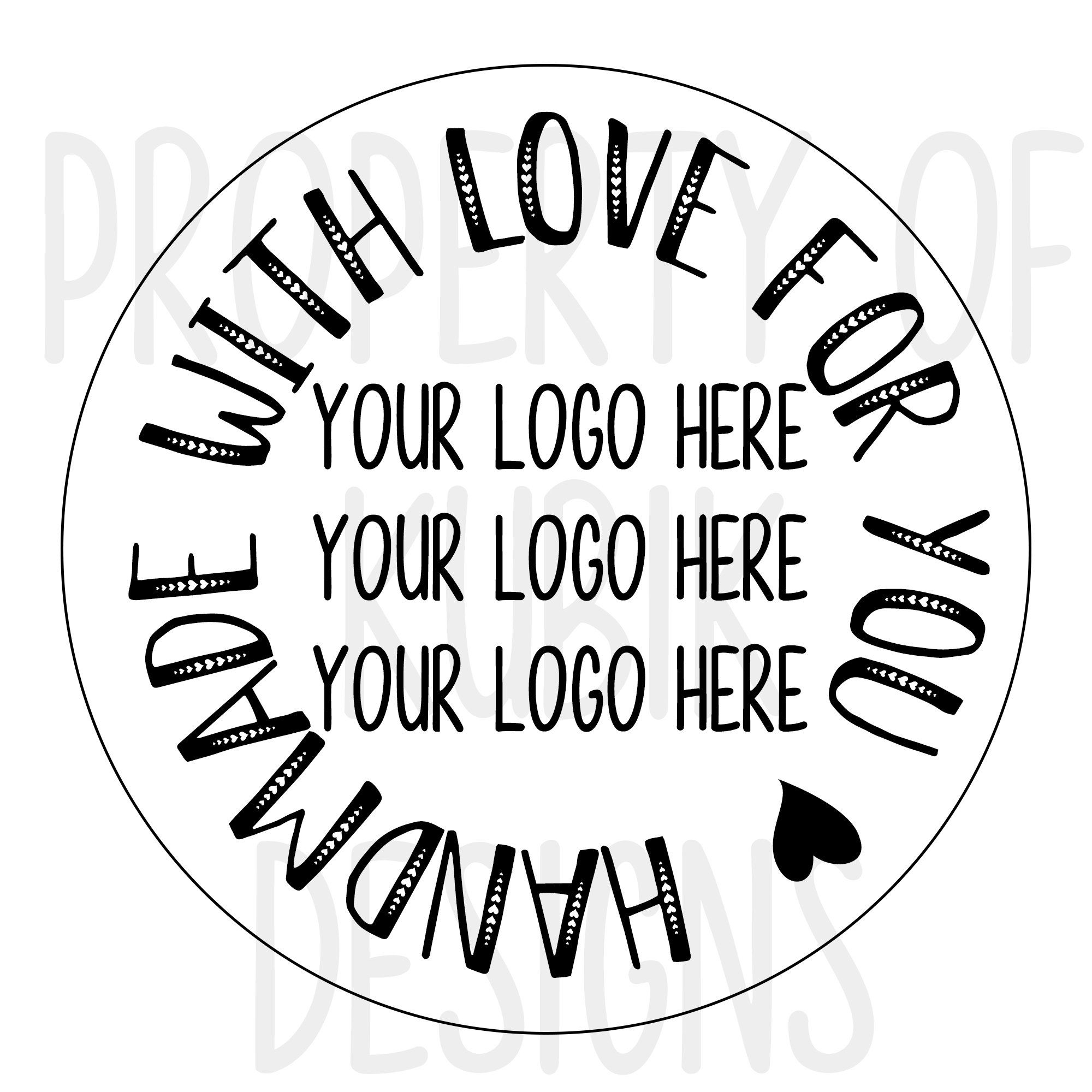 Download Handmade With Love Printable Sticker   Add Your Business ...