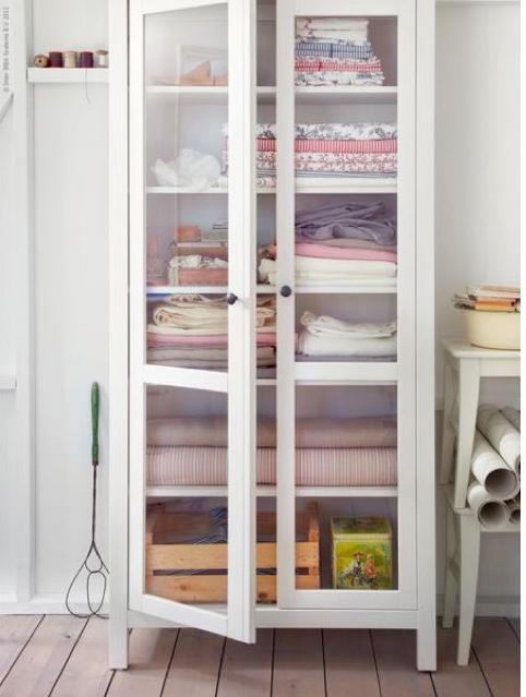 Ikea Bookshelf As Linen Closet Linen Closet Storage Bookcase With Glass Doors Glass Cabinet Doors