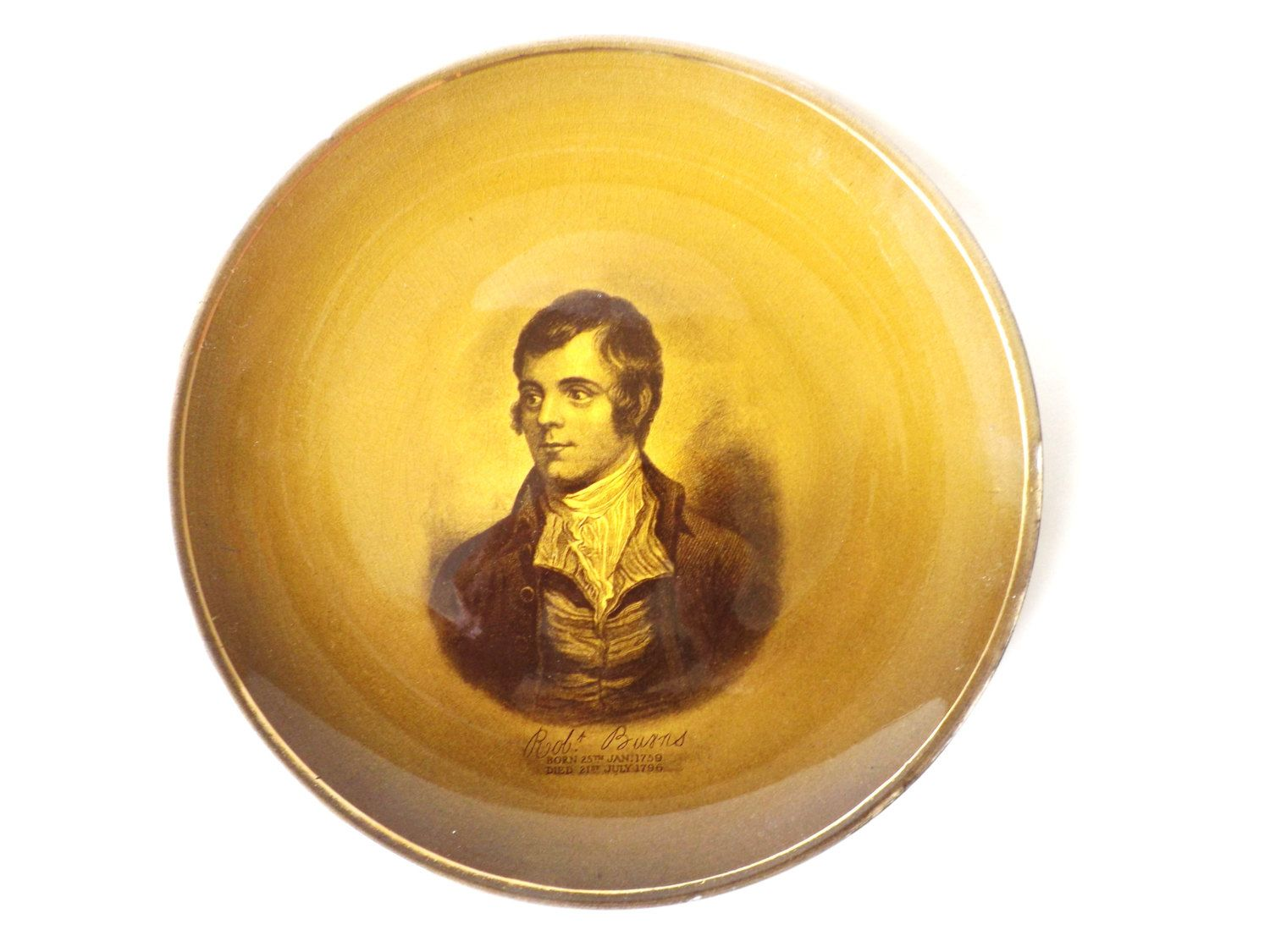 Robert Burns Commemorative Plate, Robbie Burns Scottish Poet ...