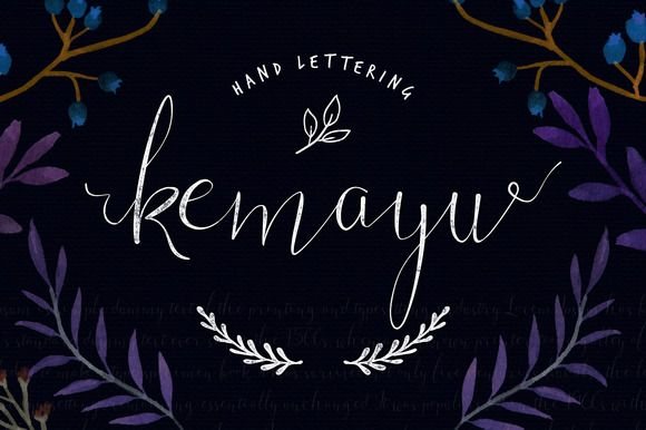 Kemayu is hand lettering script font. include file otf and ttf 46