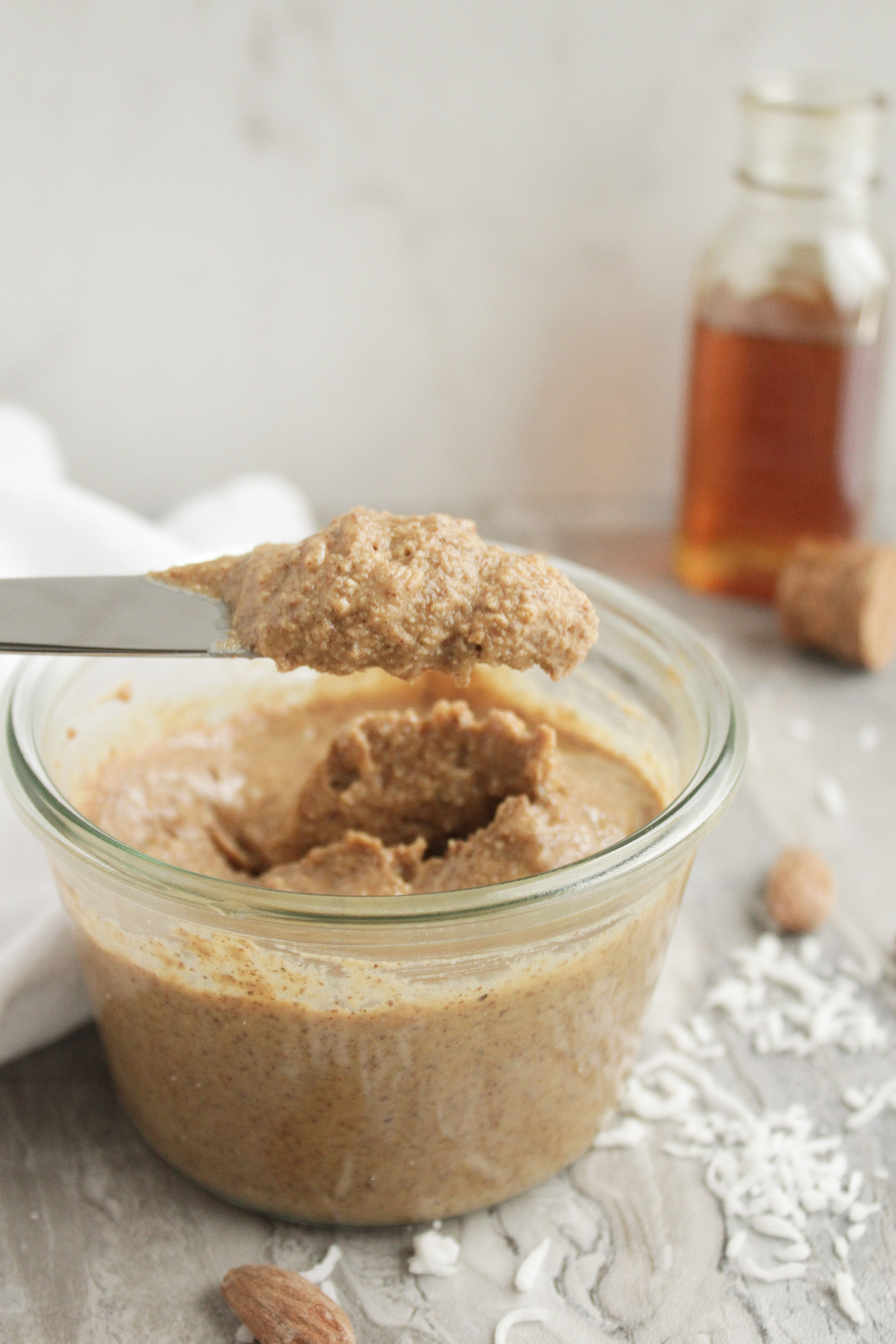 Coconut Honey Almond Butter www.petitfoodie.com