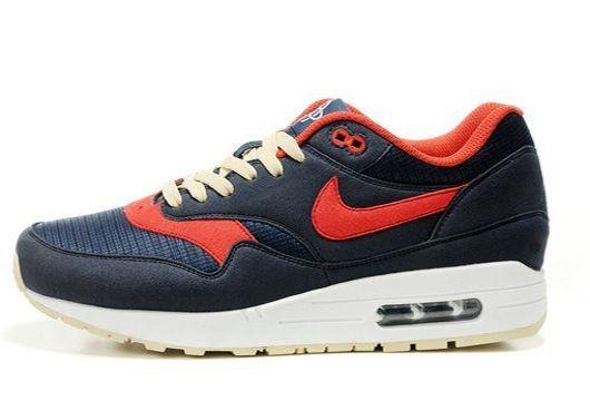 07d76cfdfad19 Vente en gros Nike Air Max 1 Noir/Rouge/Blanche Chaussures Homme Prix  Reduction