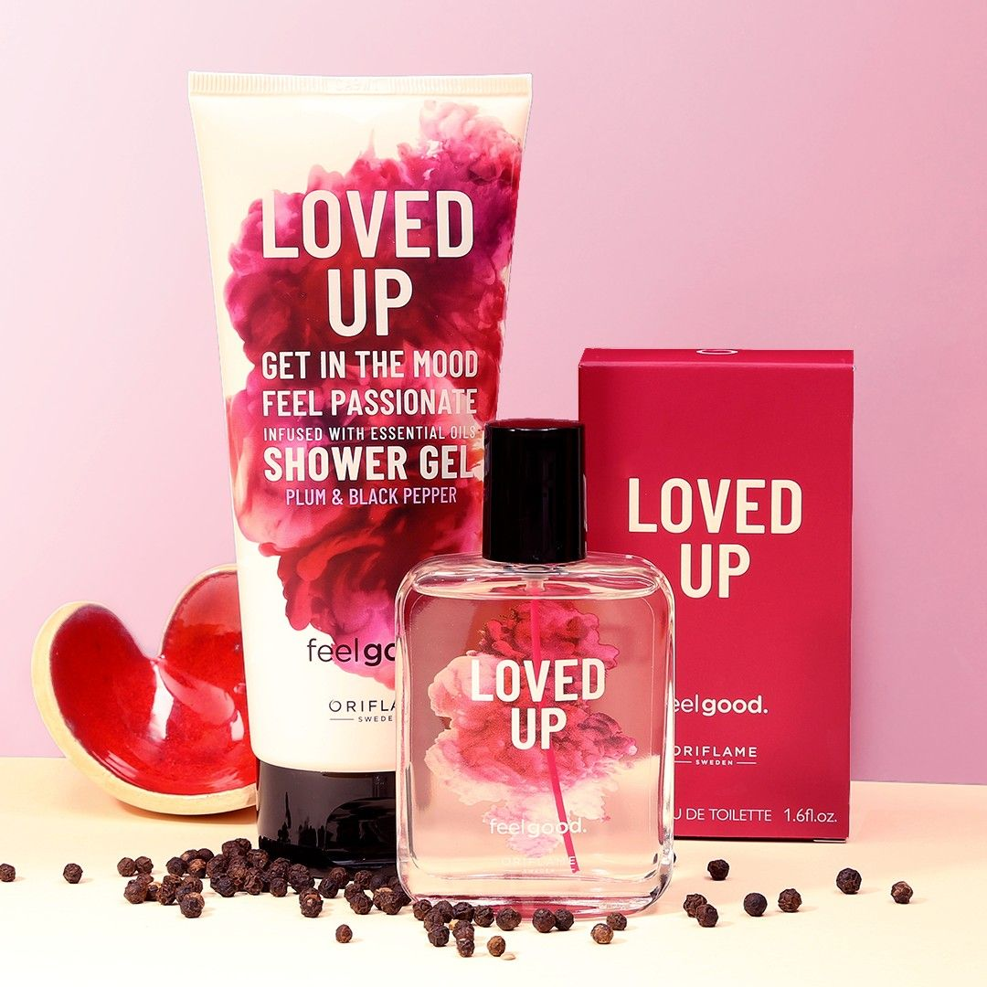 Feel Good Loved Up Oriflame Beauty Products Cosmetics Sale Essential Oil Shower Gel