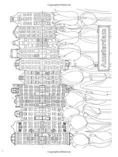 Creative Haven CityScapes A Coloring Book With Hidden Picture Twist Alexandra Cowell