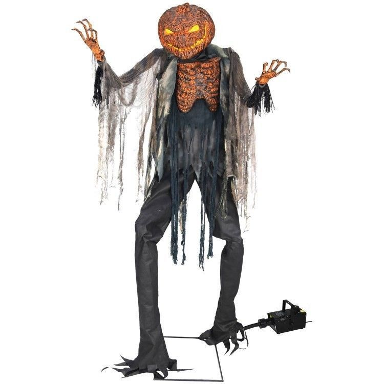 Scary Halloween Decorations Indoor Props Scarecrow Fog Machine Set