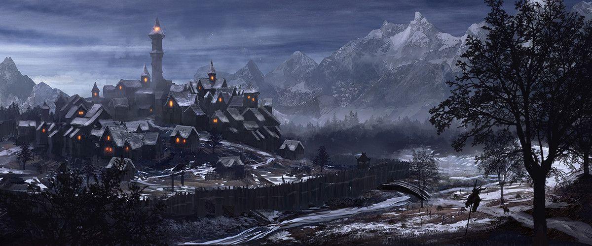 Village au nord, creusé dans la forêt