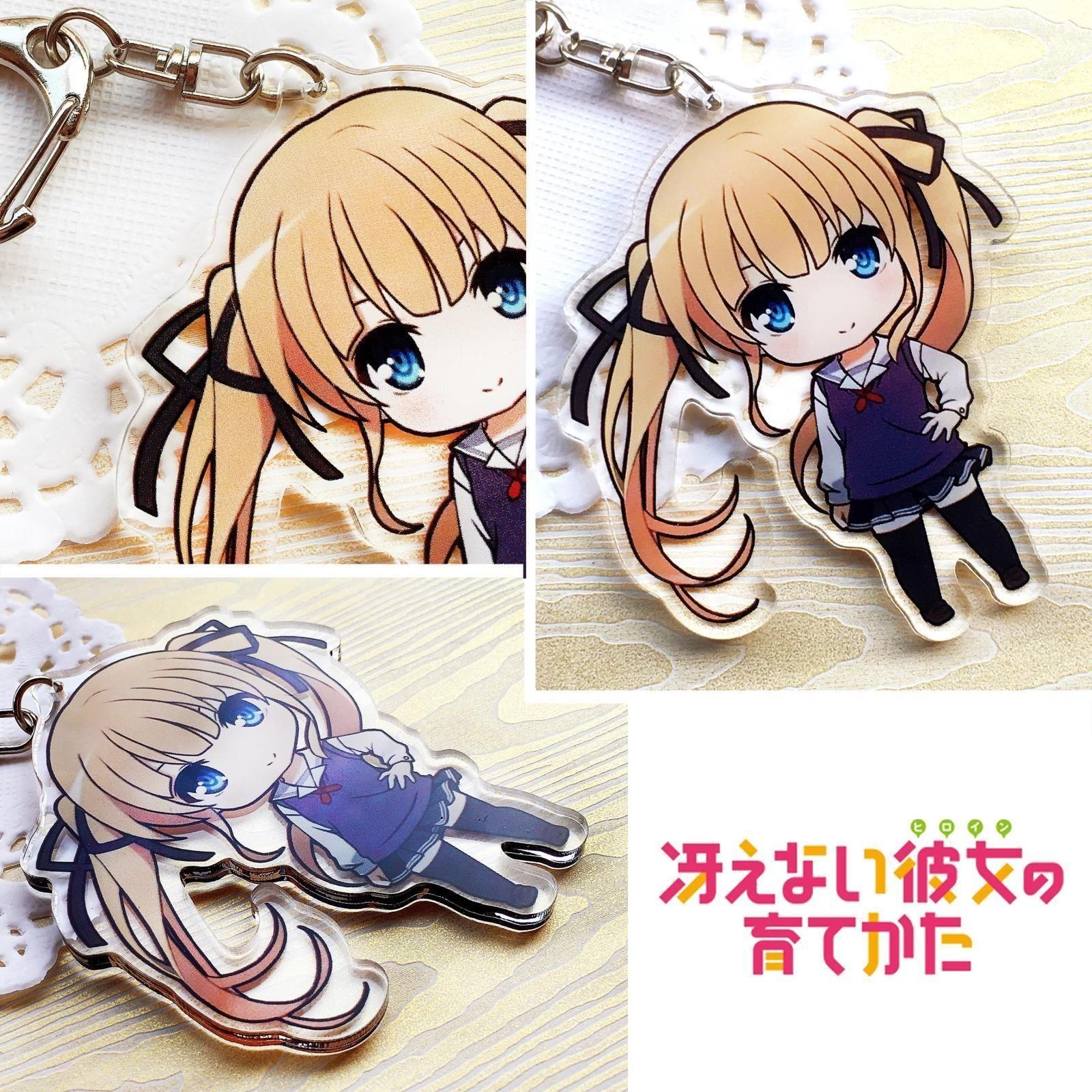 Saenai Heroine no Sodate-kata Kato Megumi Key Chain Key Ring Pendant New 01