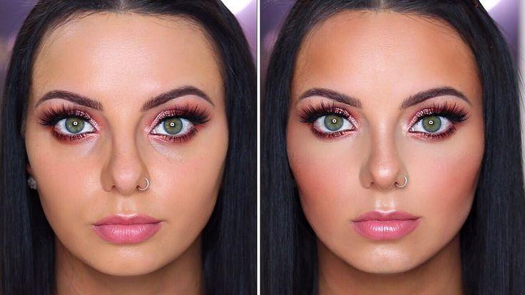 man ein rundes Gesicht konturiert und hervorhebt!  Youtube -Wie man ein rundes Gesicht konturiert und hervorhebt!  Youtube -