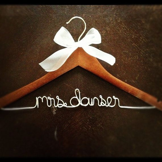 Personalized Mrs hanger by HeartfeltHangers on Etsy, $17.00