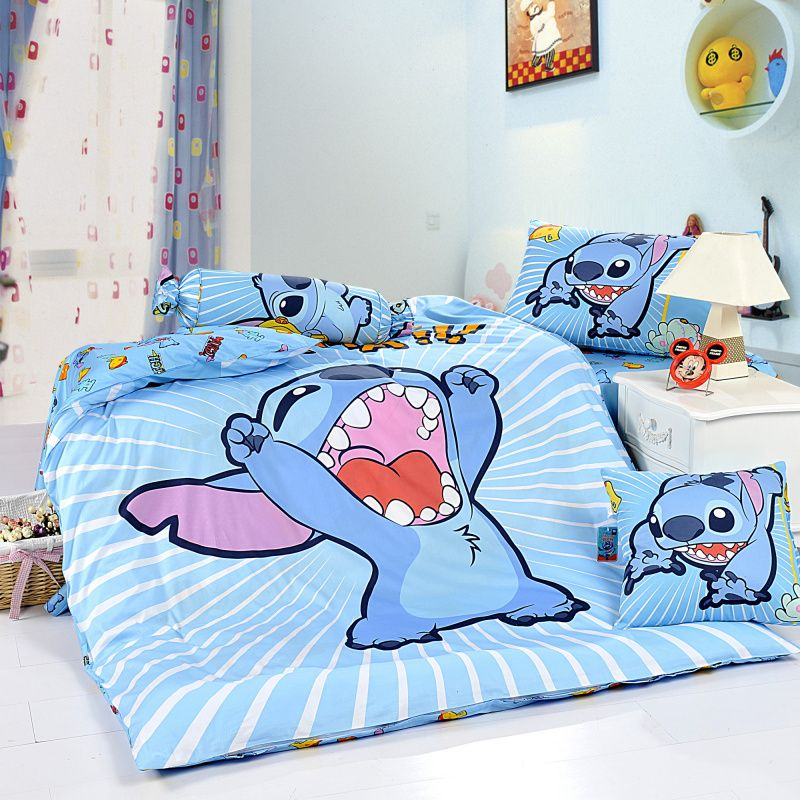 Stitch Sky Blue Disney Bedding Sets- why did I never know about this