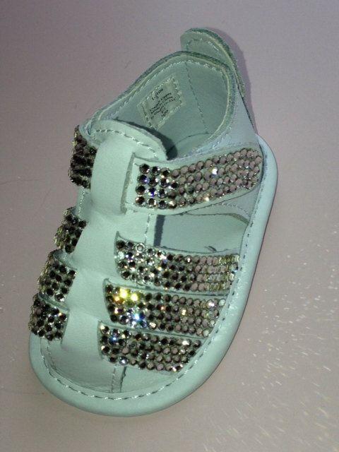 ba61ad9251b0c9 Baby Rhinestone Shoes Sandals Swarovski Crystal by SweetTipToes ...