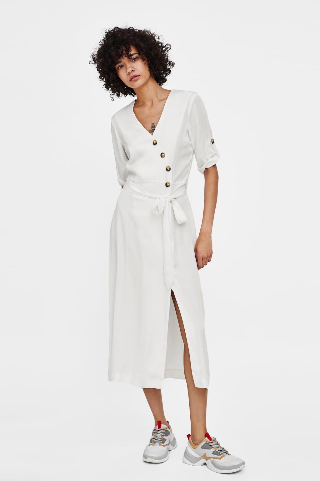 Mi Robe Boutons Longue À Zara zMUqSVp