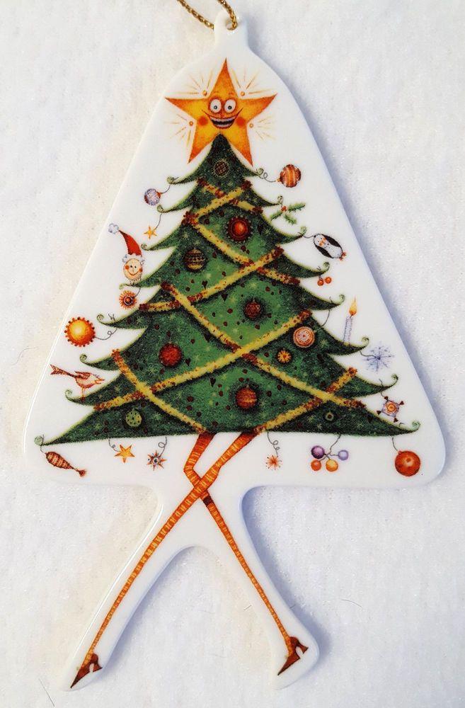 Dancing Christmas Tree Ornament Clare Mackie 2005 Porcelain Royal ...