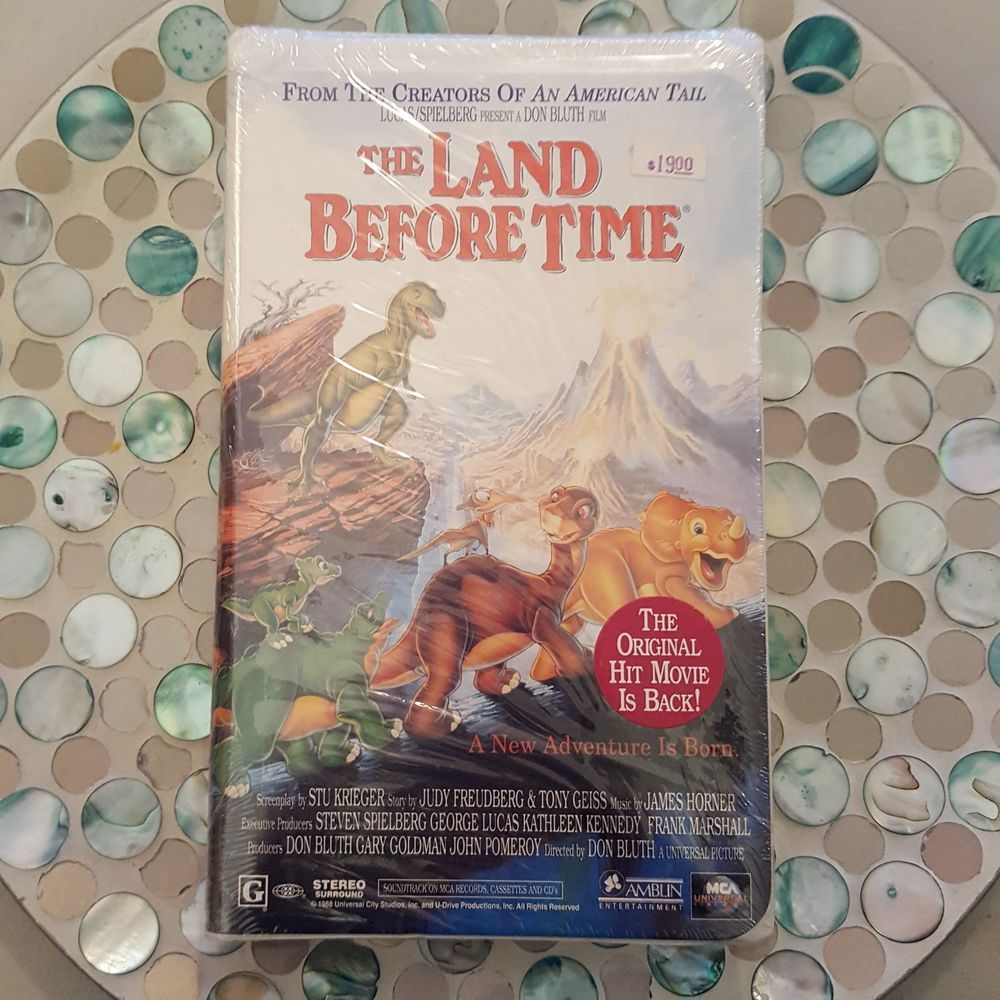 The Land Before Time VHS, 1996 Cartoon Kids Movie | DVD'S