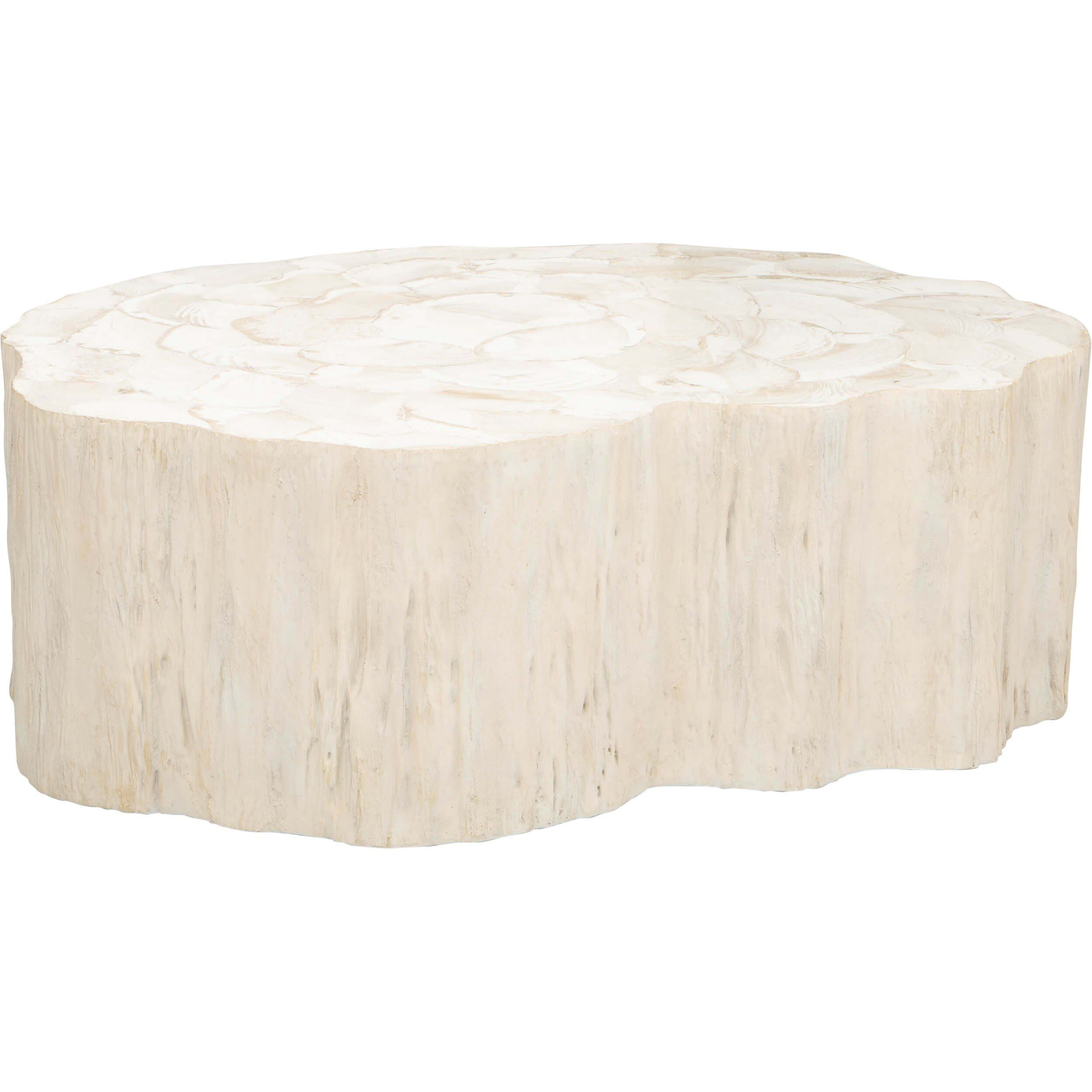 Camilla Fossilized Clam Coffee Table Modern Coffee