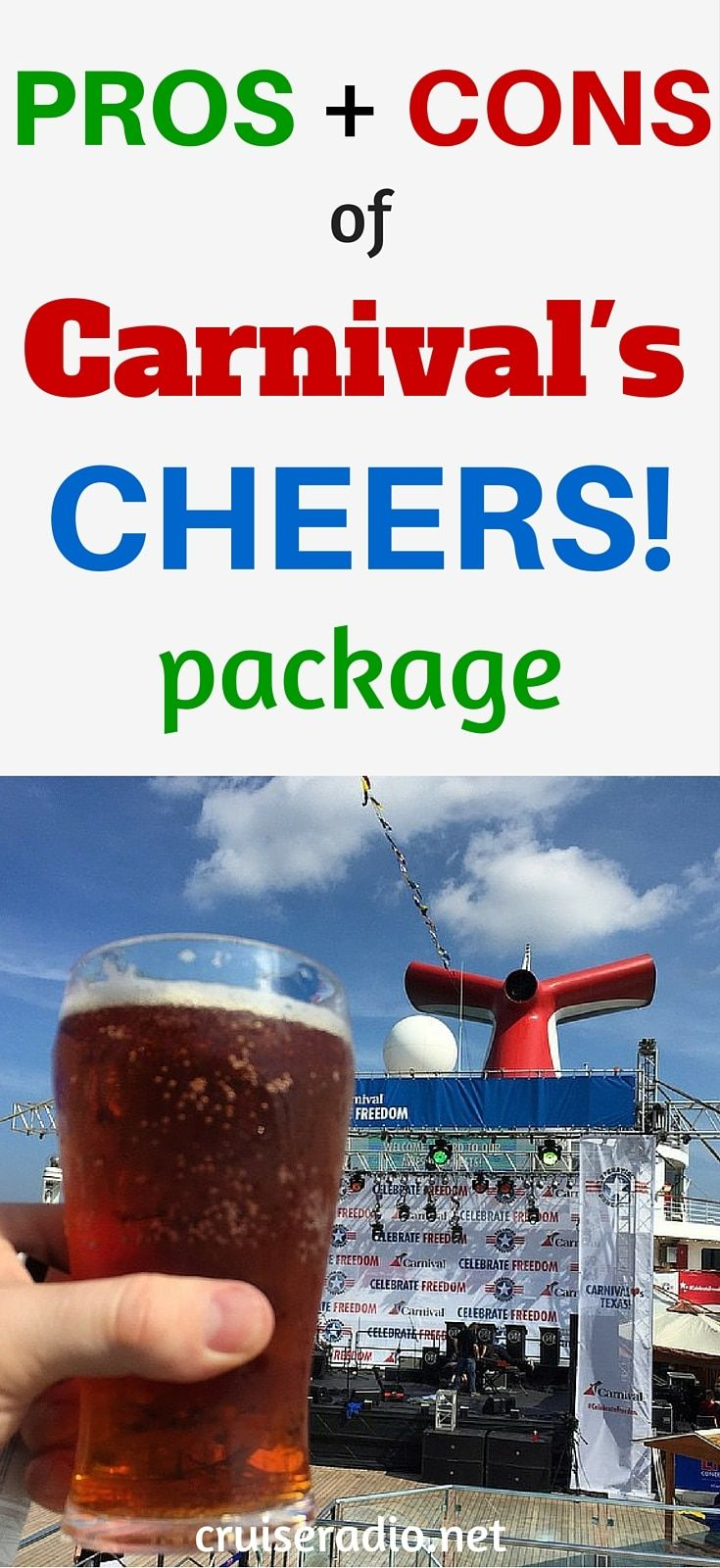 Pros And Cons Of Carnival's CHEERS! Beverage Program