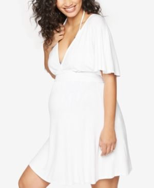 0748104b09 A Pea In The Pod Maternity Swim Cover-Up - White S | Products ...