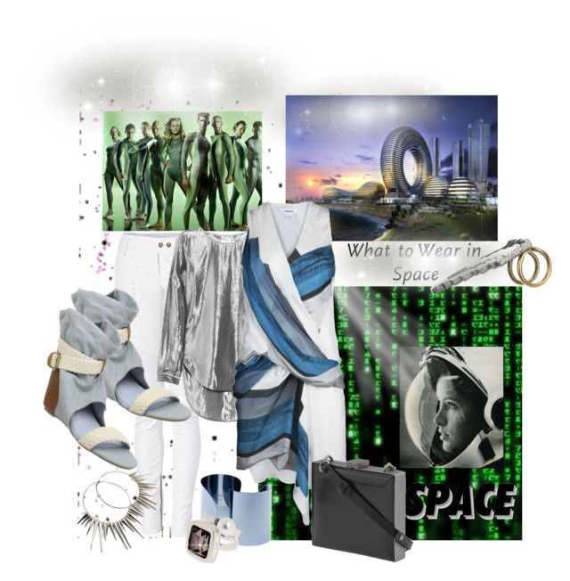 """""""What to wear in Space..."""" by kateo ❤ liked on Polyvore featuring Lanvin, Balmain, 80%20, Maison Margiela, Karl Lagerfeld, Helmut Lang, Pour La Victoire and Fantasy Jewelry Box"""