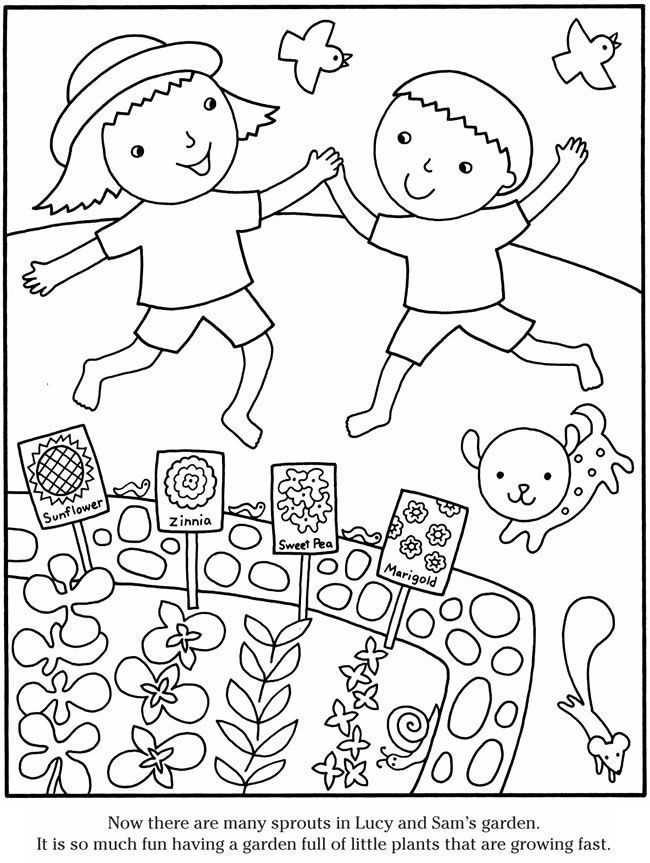 Gardening Coloring Pages | Garden coloring pages, Spring ...