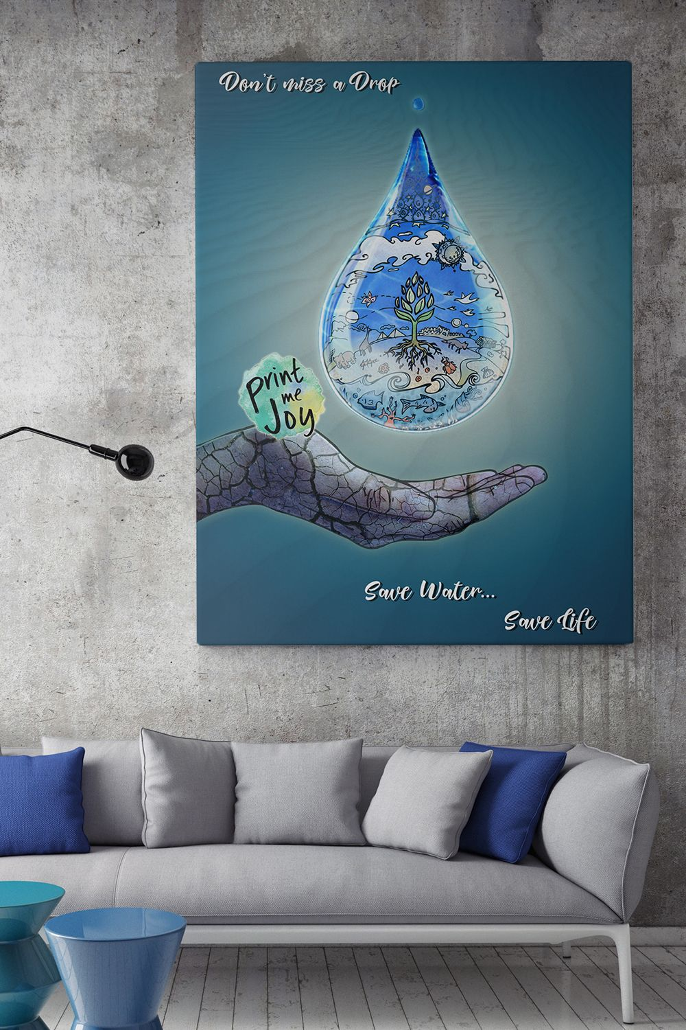 Water Wall Art Drop Poster Water Save Save Life Desert Ecology Wall Art Instant Download Printable Wall Art Kitchen Decor Bathroom Decor Wall Art Instant Download Ecology Art Printable Wall Art