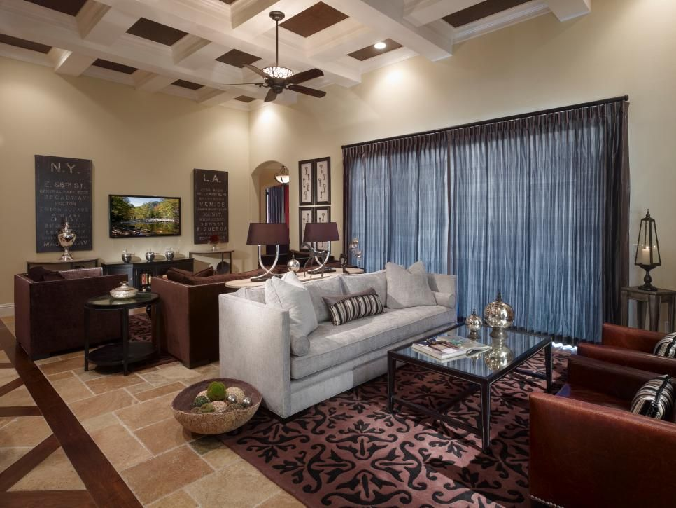 Transitional Family Room Is Cozy And Inviting New Living Room Family Room Room #small #living #room #with #two #sitting #areas
