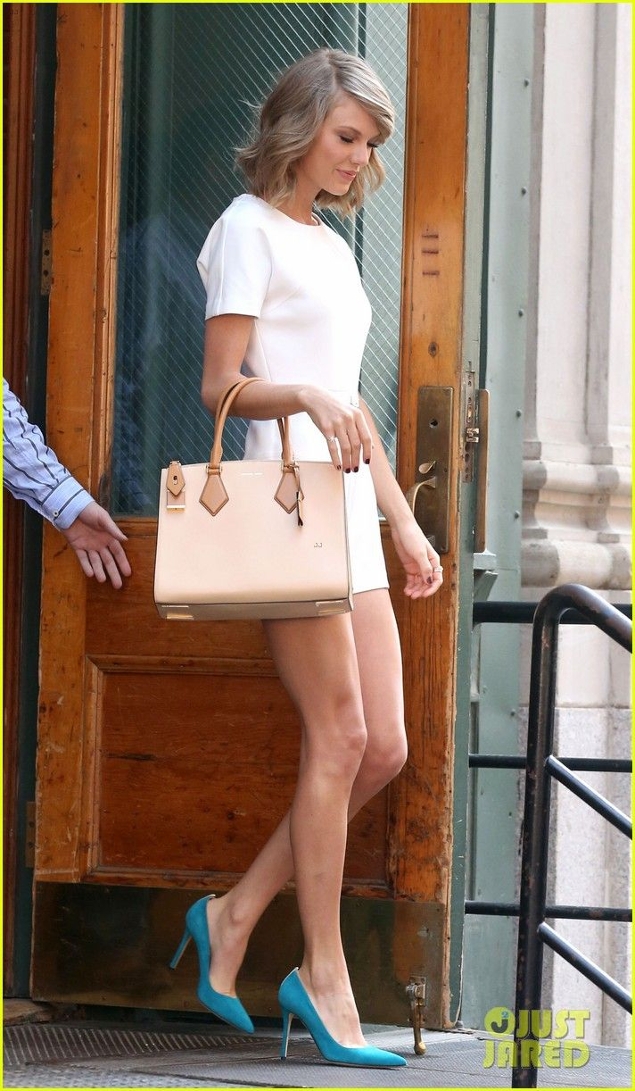 Taylor Swift & Calvin Harris Leave Her Apartment ...