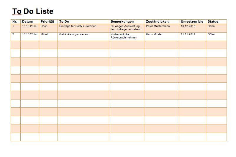 Todo liste vorlage muster und vorlagen pinterest for Tabelle muster word