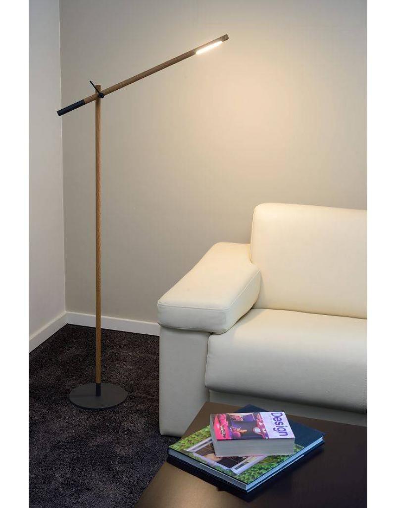 Staande Lamp Hout Boog Wit Of Zwart 143cm Hoog Vloerlamp Houten Boog Woodstock