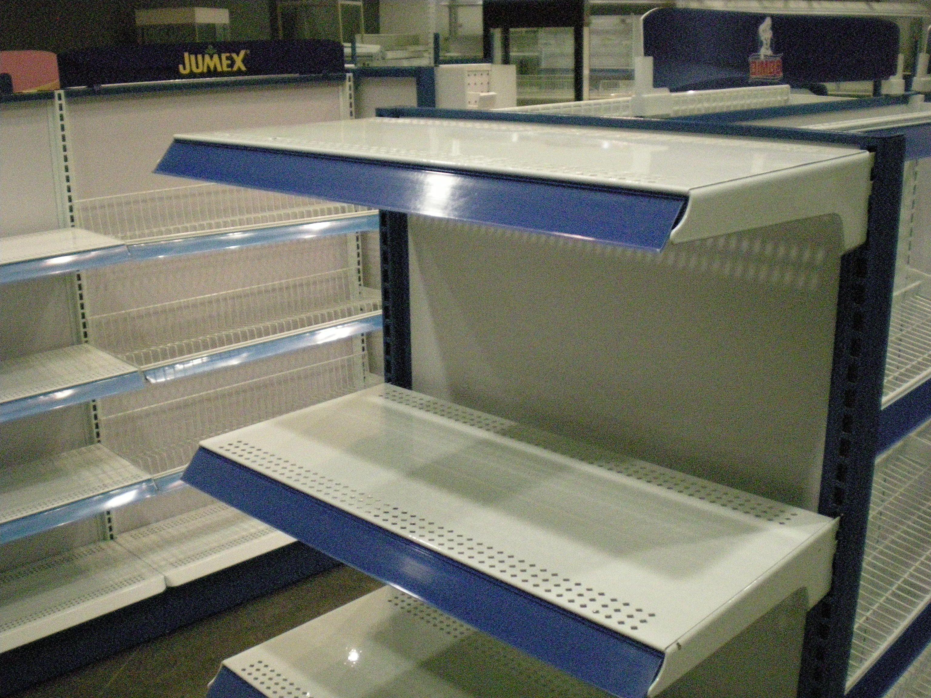Cabecera para gondola: Marco cabecera fabricado en lámina Cal. 14 ...
