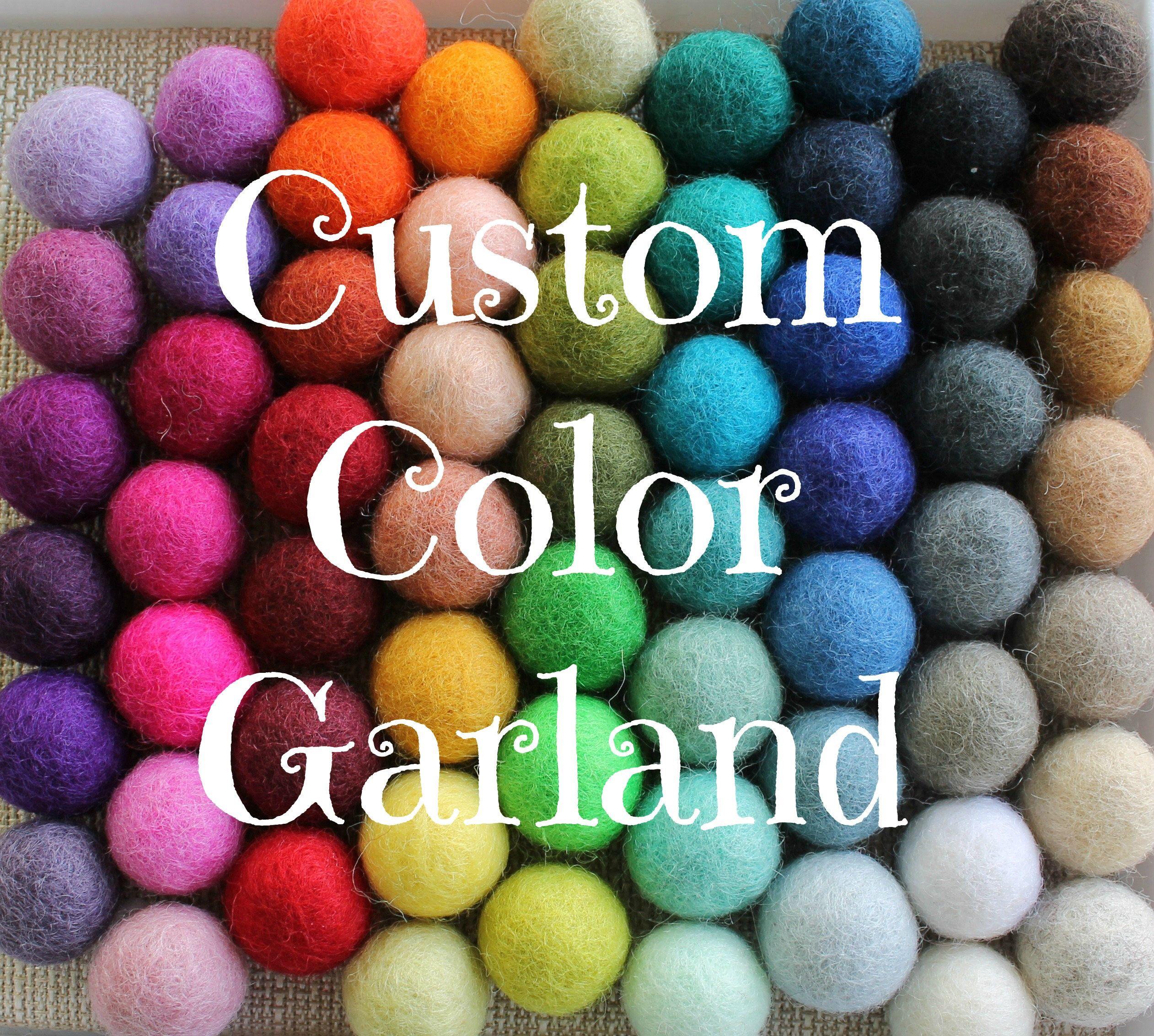 Custom Pom Pom Garland Design Your Own Felt Ball Garland
