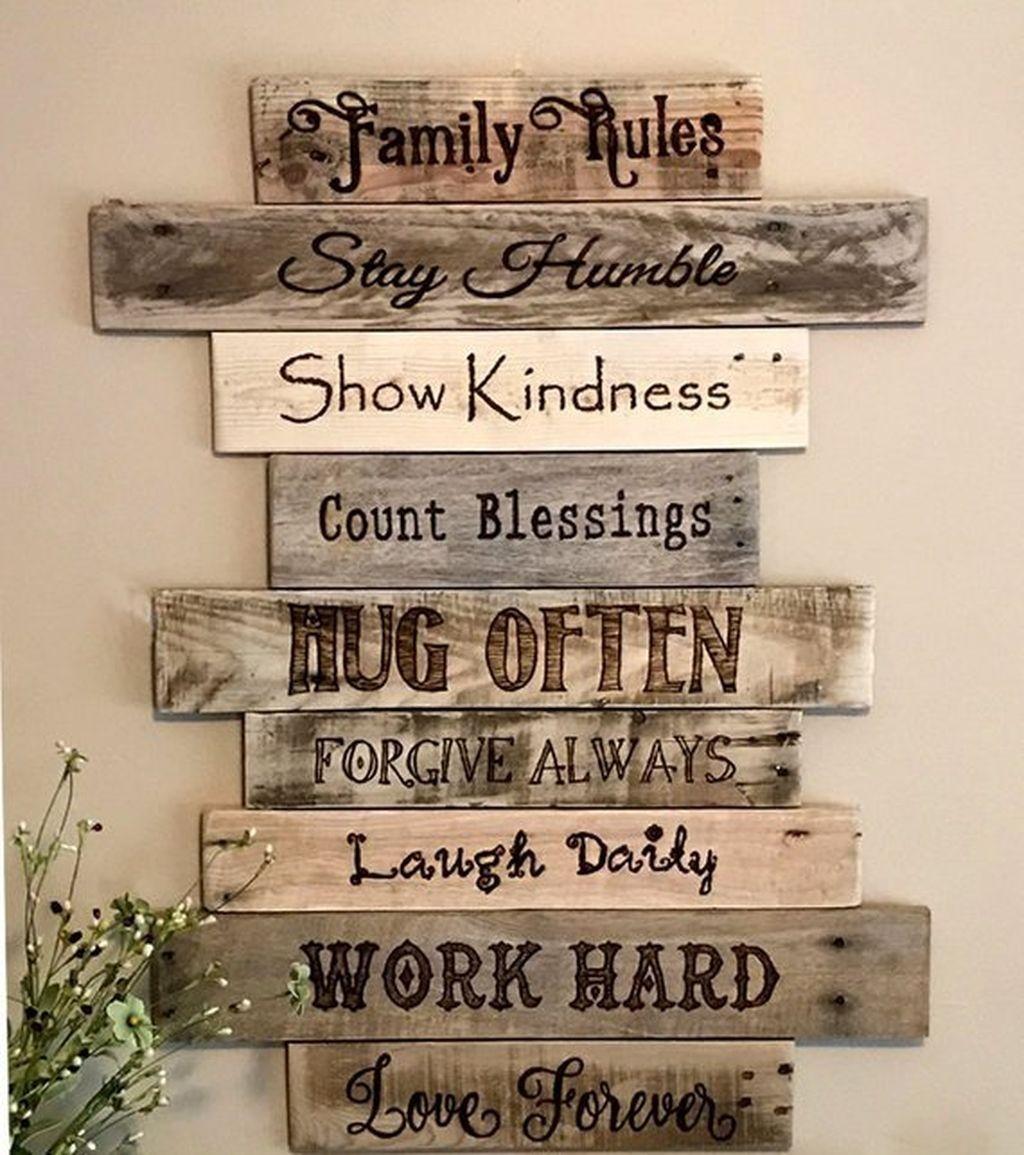 Hottest Farmhouse Decor Ideas For House 22 Rustic Wood Signs Family Diy Farmhouse Decor Farmhouse Decor