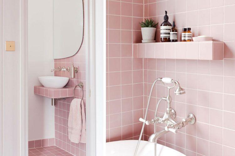 Interiores Con Estilo En Rosa Palo Diseno De Banos Color Para