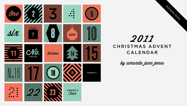 digital advent calendar design