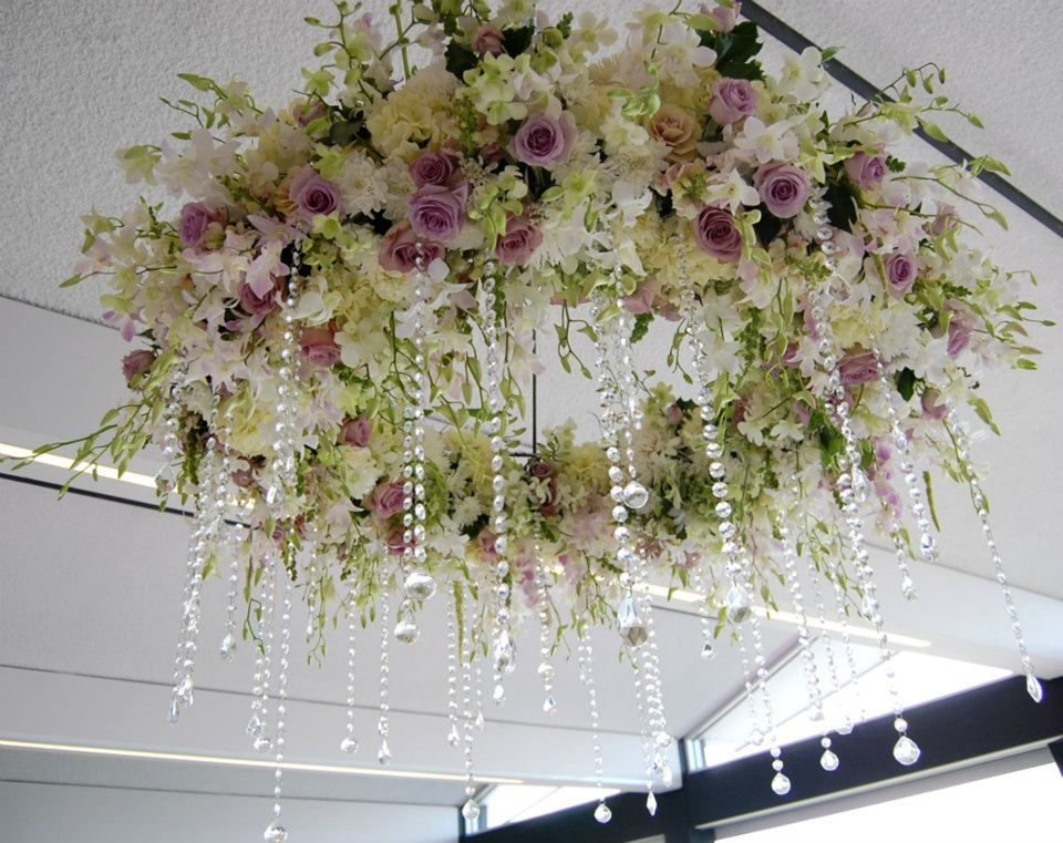 Amazing floral chandelier weddings receptions and