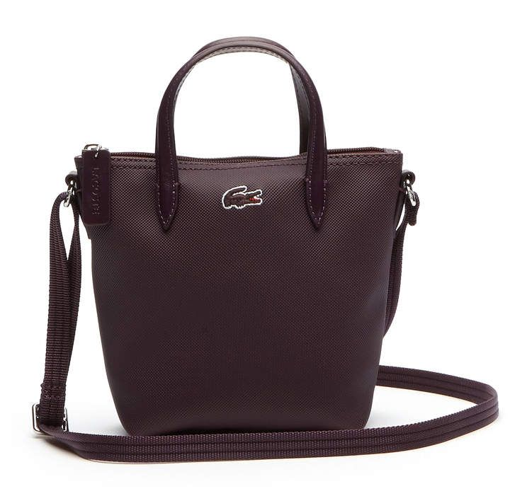 718aa2e04 Lacoste Women's L.12.12 Concept Petit Pique Zip Tote. ShopStyle Collective  Lacoste Polo, Canvas ...