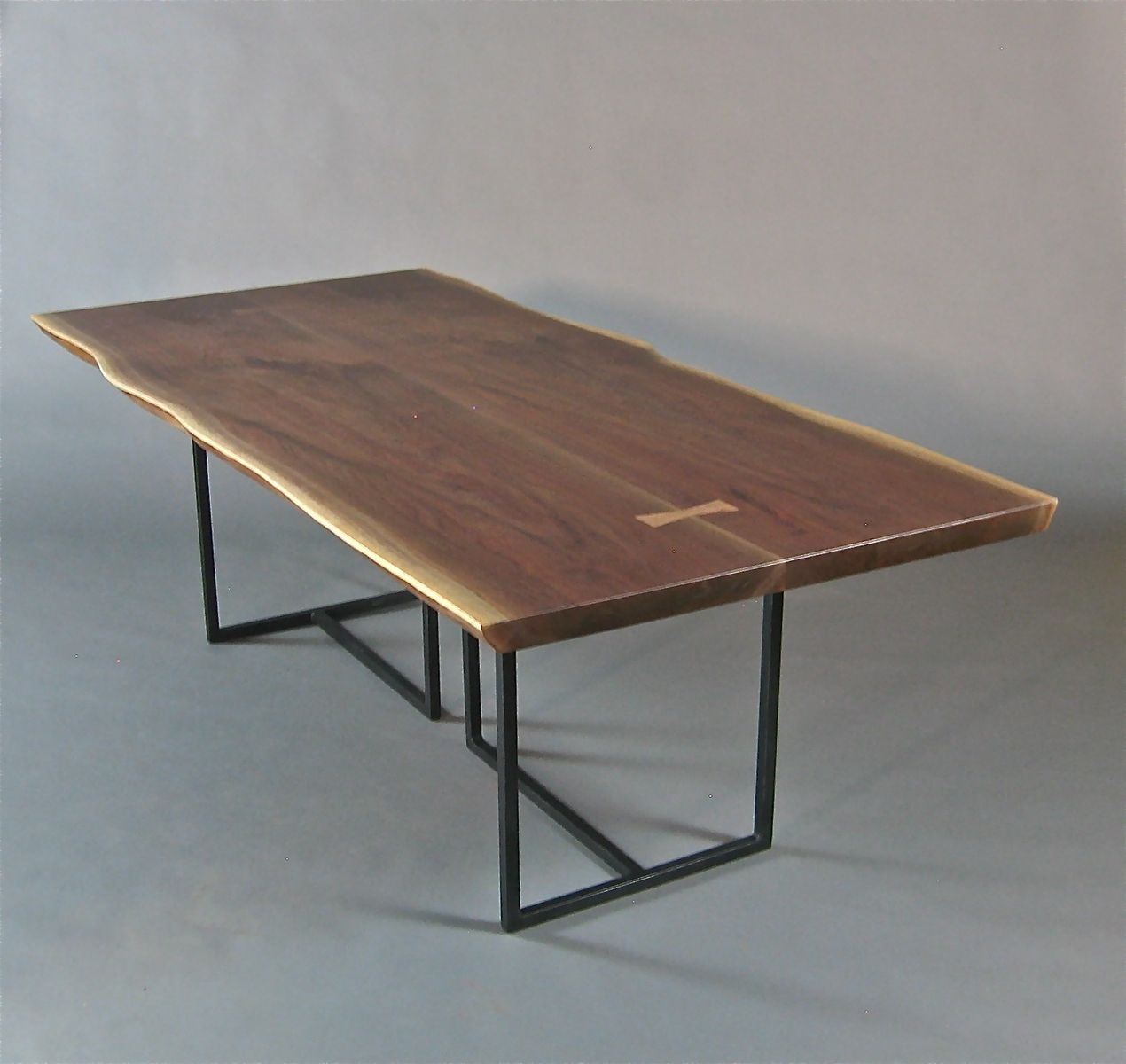 live edge tables | Handmade Walnut Slab Live Edge Dining Table. by ...