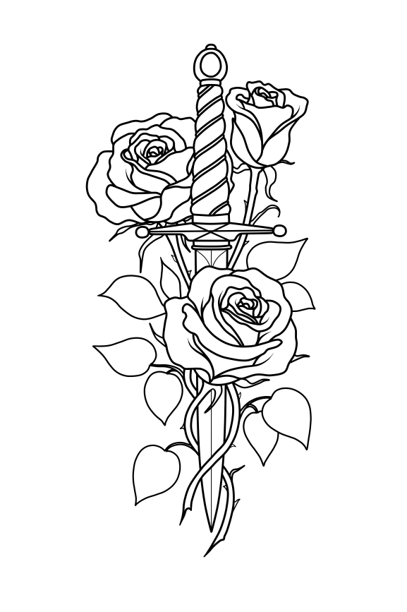 Black And Gray Tattoos Tattoo Sketch Rose Tattoo Sketch Black And White Rose In 2020 Small Rose Tattoo Knife And Rose Tattoo Rose Tattoos For Men