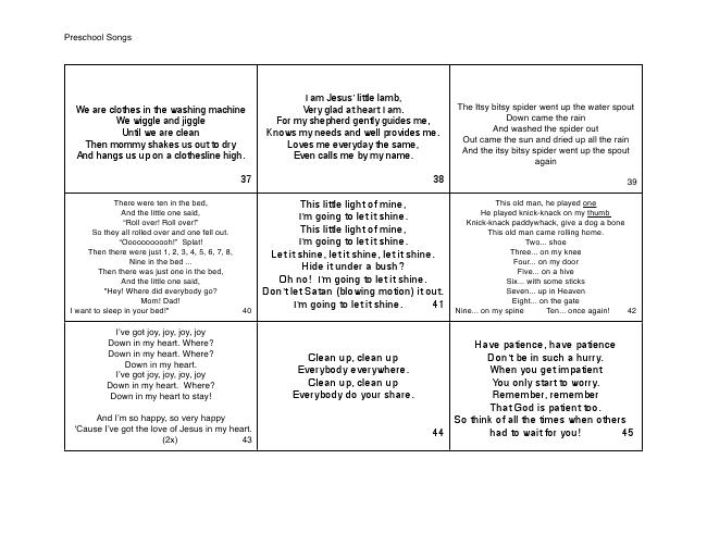 45 preschool songspdf for make it yourself song book fun 45 preschool songspdf for make it yourself song book solutioingenieria Choice Image