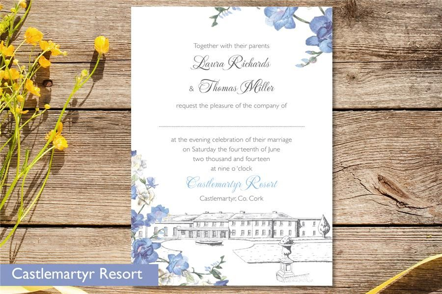 Venue Invitations Invitation Wedding Stationery from