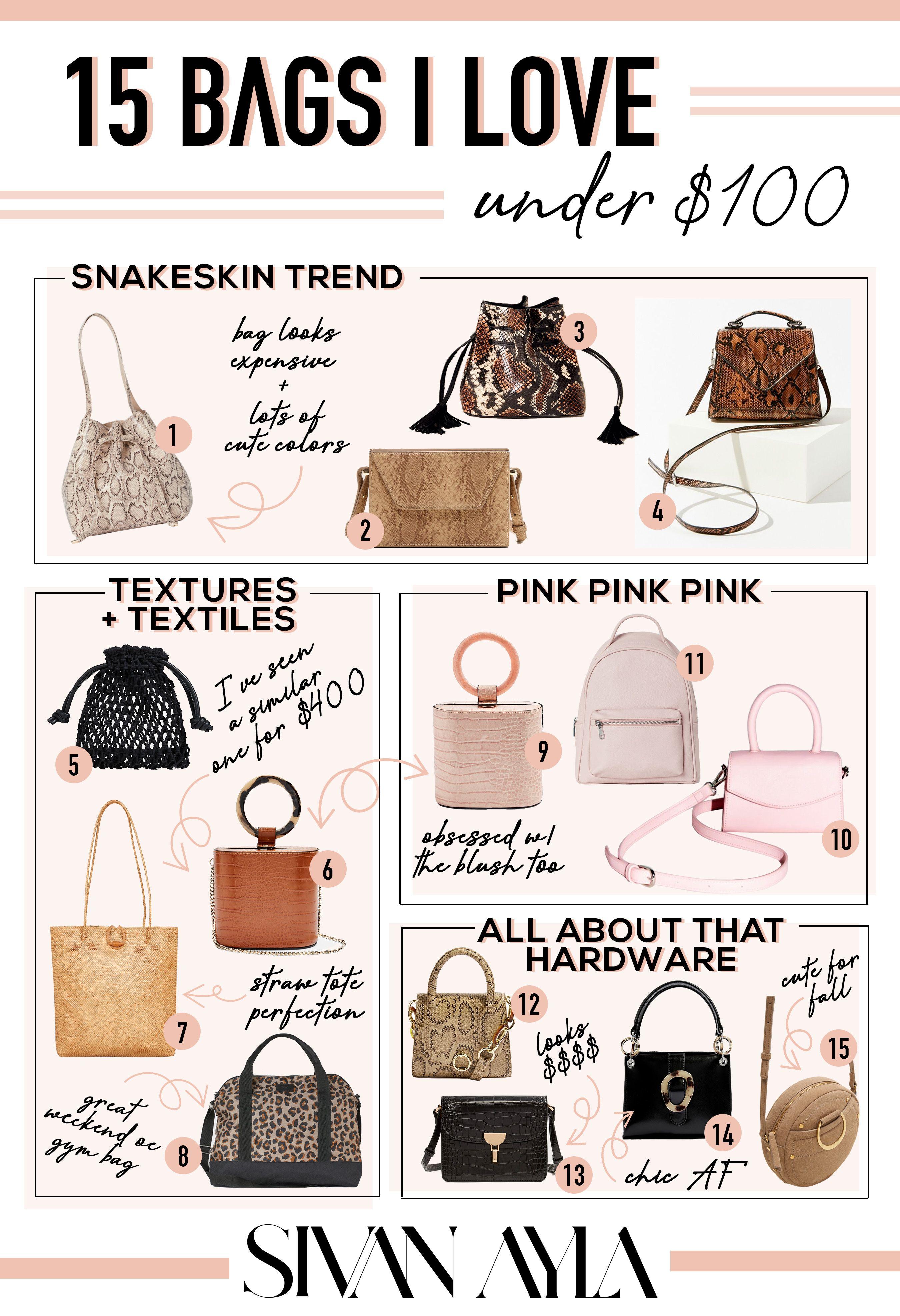 15 Bags For Under 100 Bags Snake Skin Bag Mini Crossbody Bag
